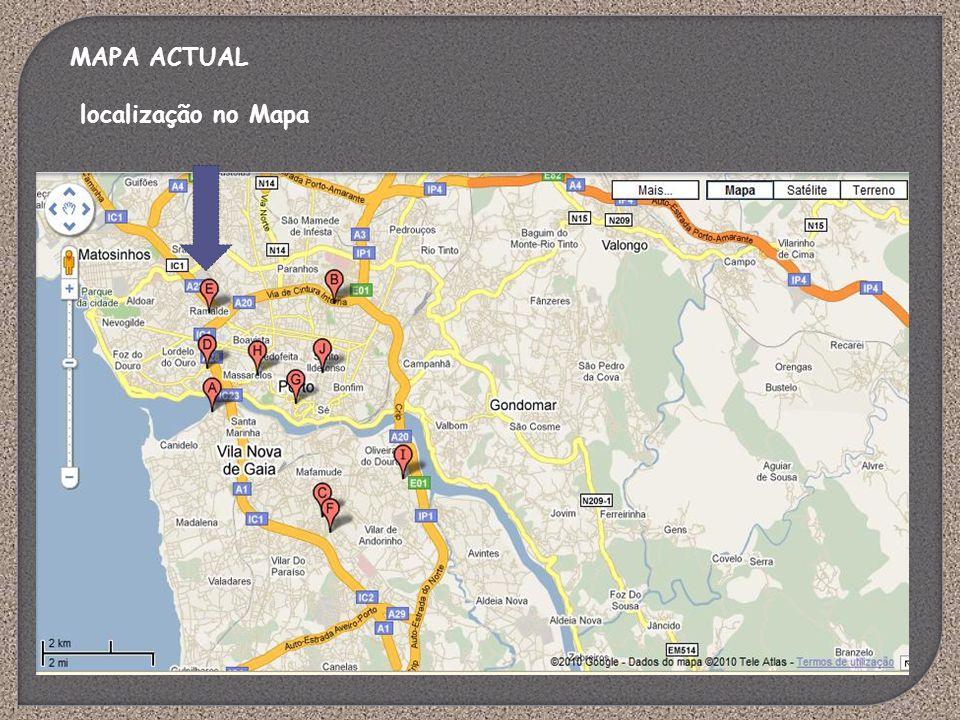 MAPA ACTUAL localização no Mapa
