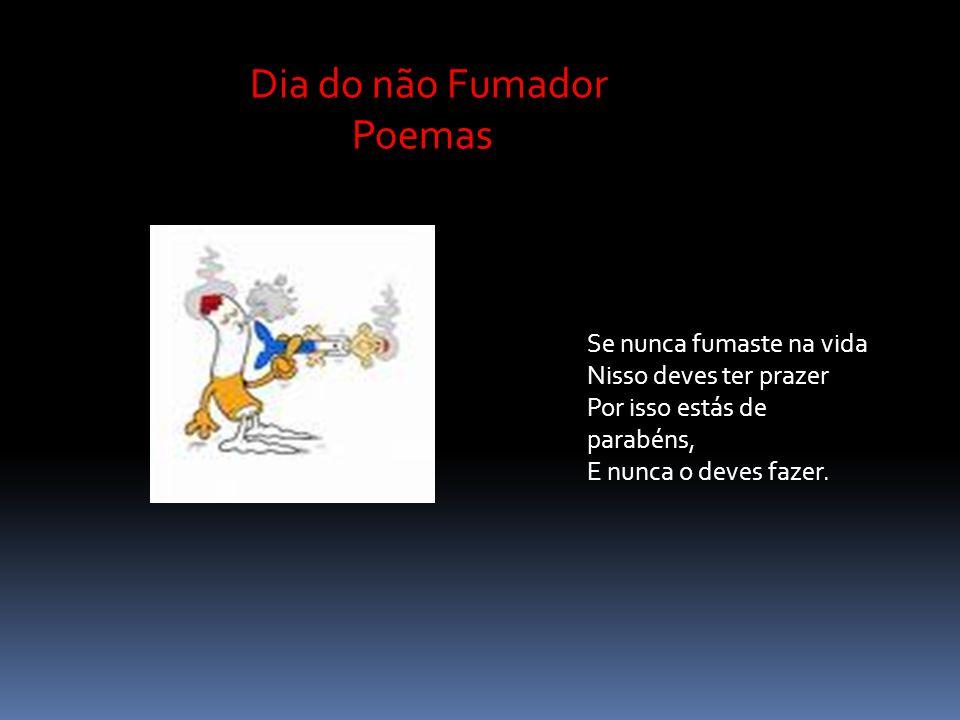 Dia do não Fumador Poemas