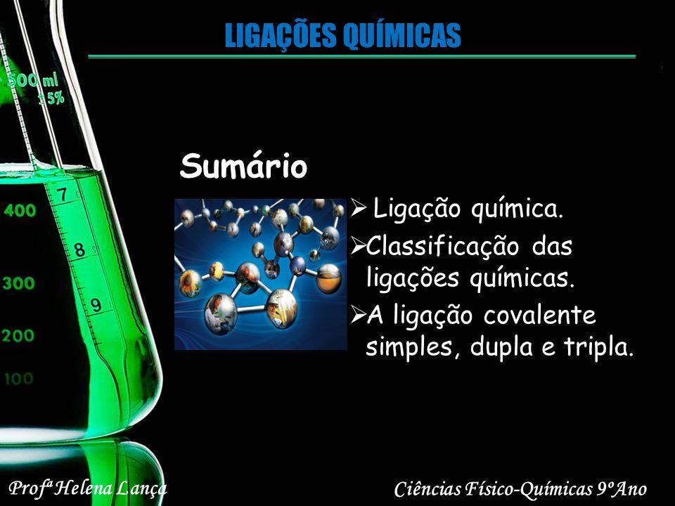 Sumário LIGAÇÕES QUÍMICAS Ligação química.