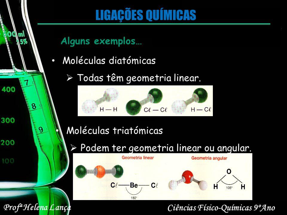 LIGAÇÕES QUÍMICAS Alguns exemplos… Moléculas diatómicas