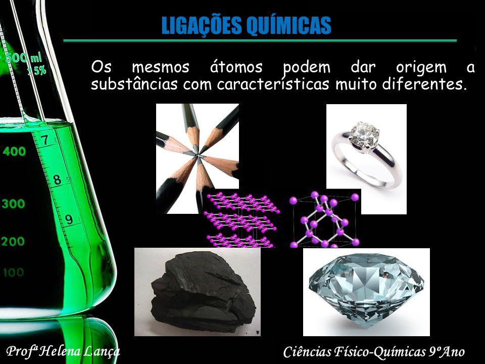 LIGAÇÕES QUÍMICAS Os mesmos átomos podem dar origem a substâncias com características muito diferentes.