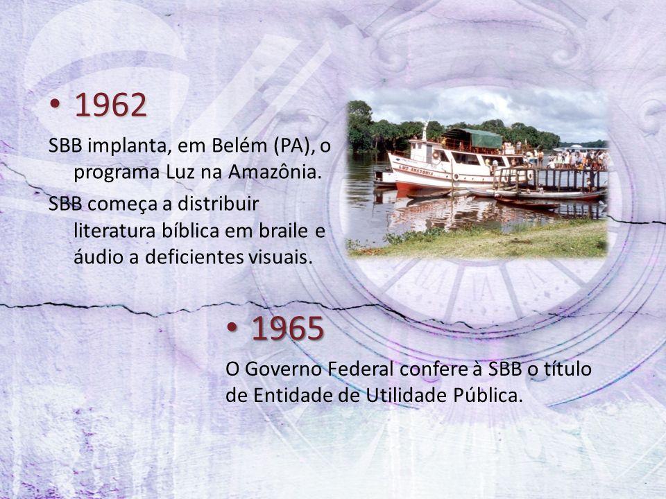 1962 1965 SBB implanta, em Belém (PA), o programa Luz na Amazônia.
