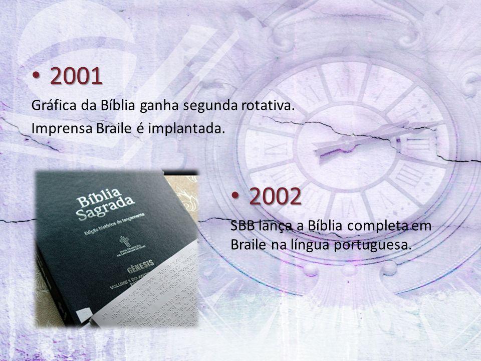 2001 2002 Gráfica da Bíblia ganha segunda rotativa.