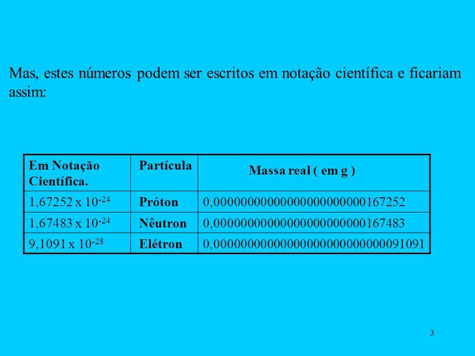 Mas, estes números podem ser escritos em notação científica e ficariam assim: