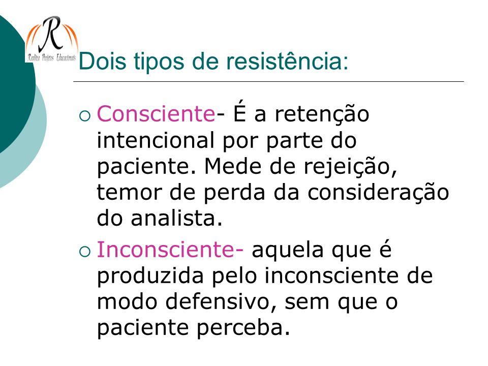 Dois tipos de resistência: