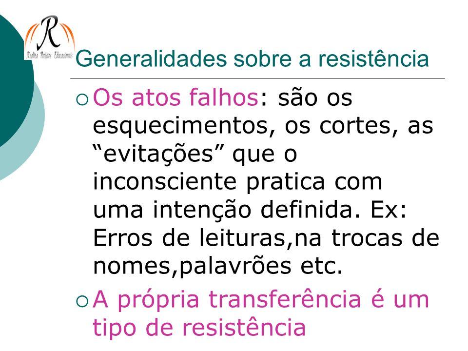 Generalidades sobre a resistência