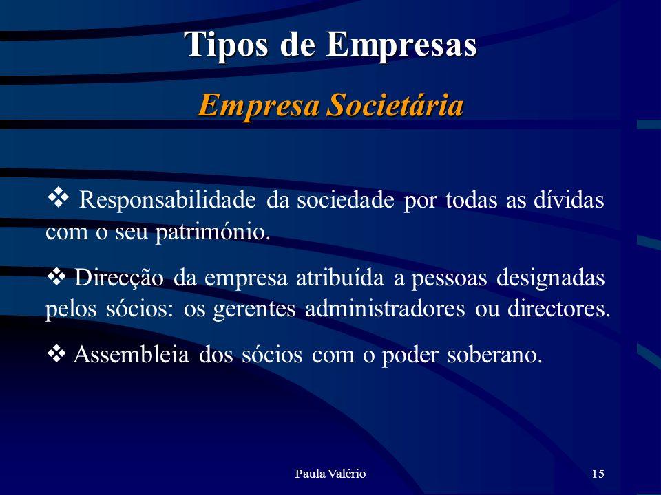Tipos de Empresas Empresa Societária