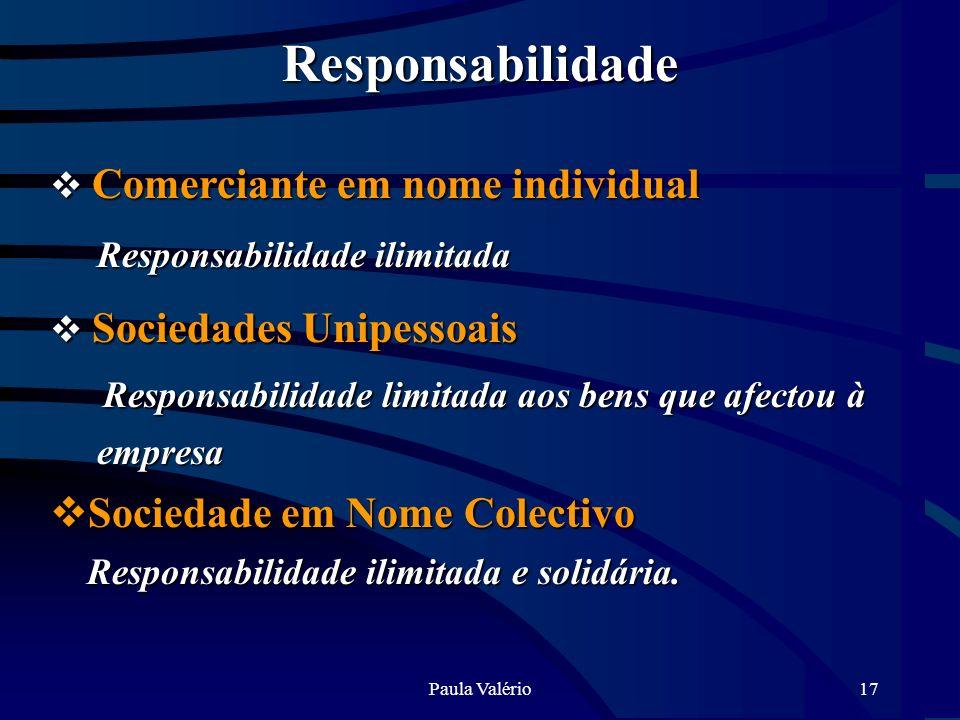 Responsabilidade Responsabilidade limitada aos bens que afectou à