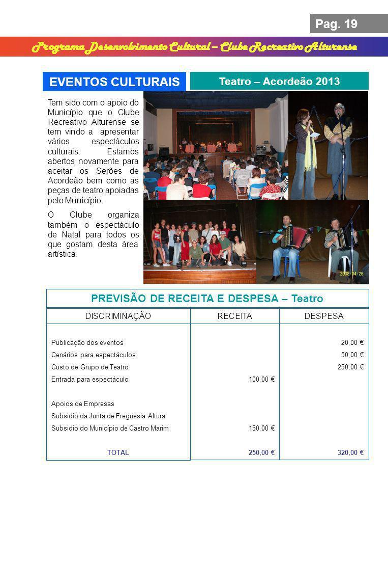 Programa Desenvolvimento Cultural – Clube Recreativo Alturense