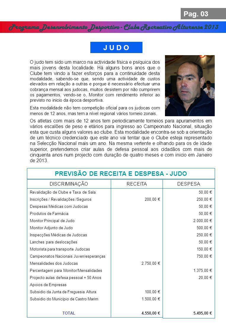 Programa Desenvolvimento Desportivo - Clube Recreativo Alturense 2013