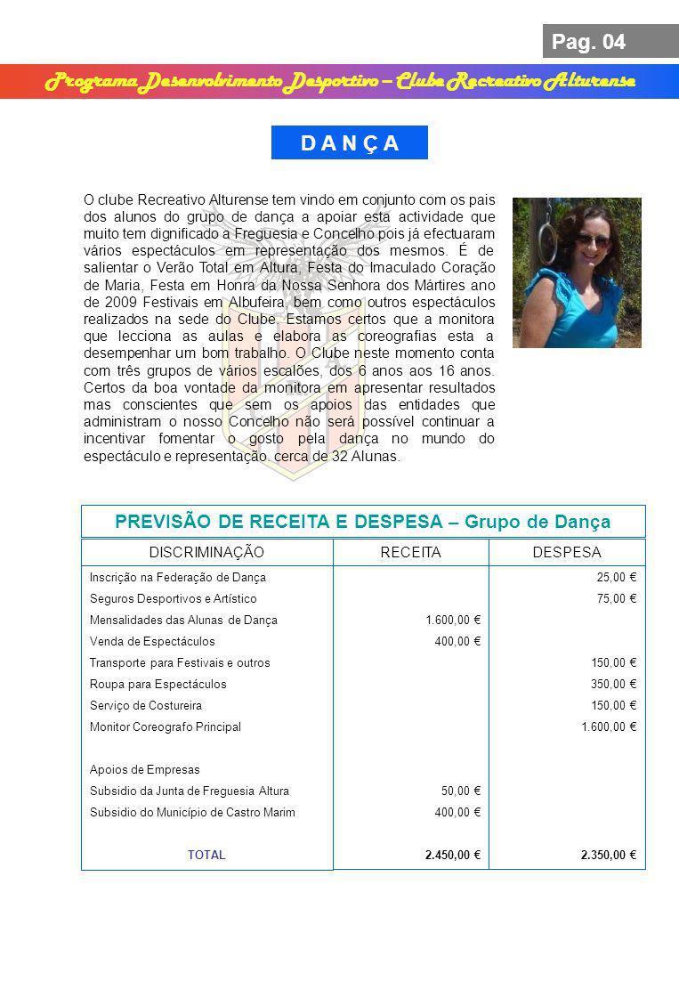 Programa Desenvolvimento Desportivo – Clube Recreativo Alturense