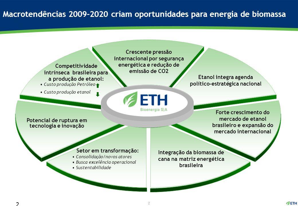 Macrotendências 2009-2020 criam oportunidades para energia de biomassa