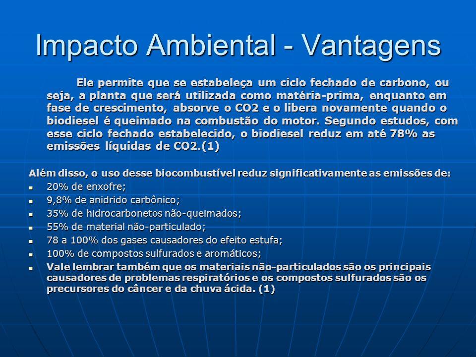 Impacto Ambiental - Vantagens