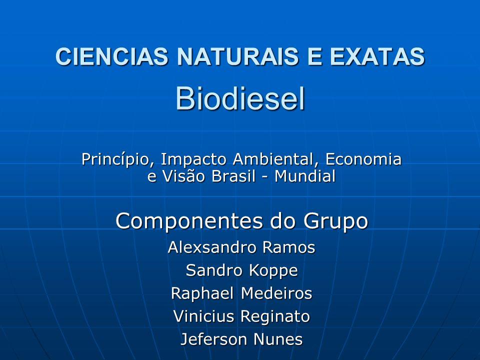 CIENCIAS NATURAIS E EXATAS Biodiesel