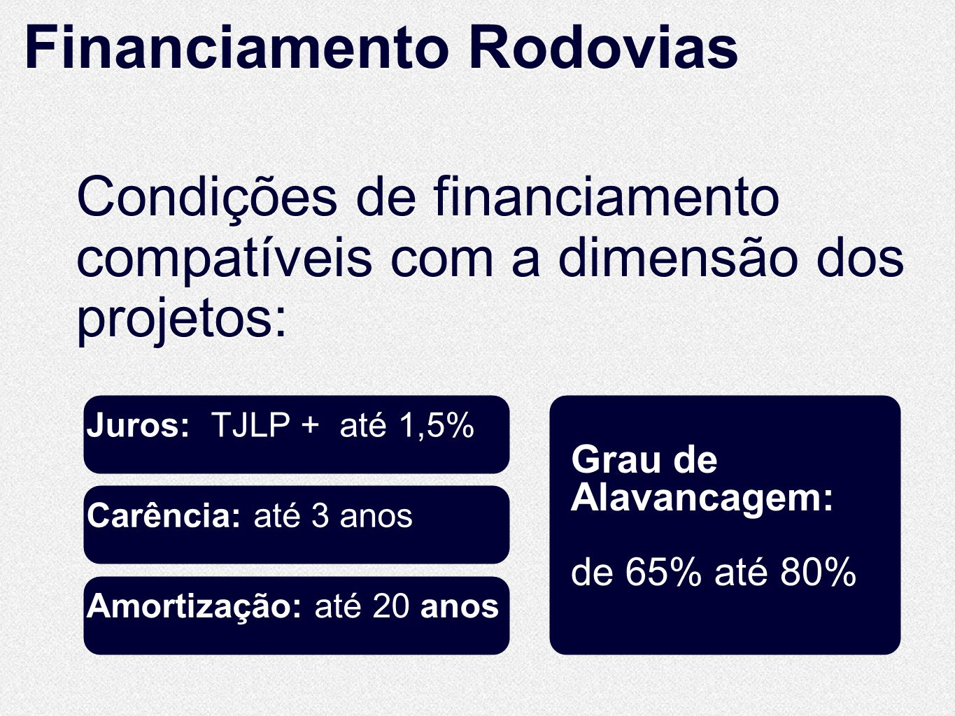 Financiamento Rodovias