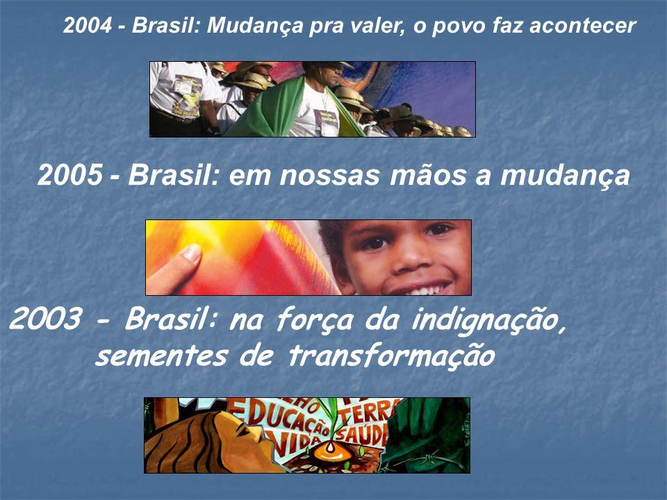 2003 - Brasil: na força da indignação, sementes de transformação