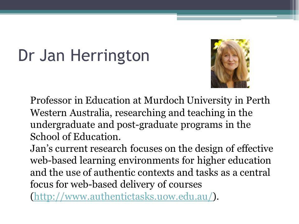 Dr Jan Herrington
