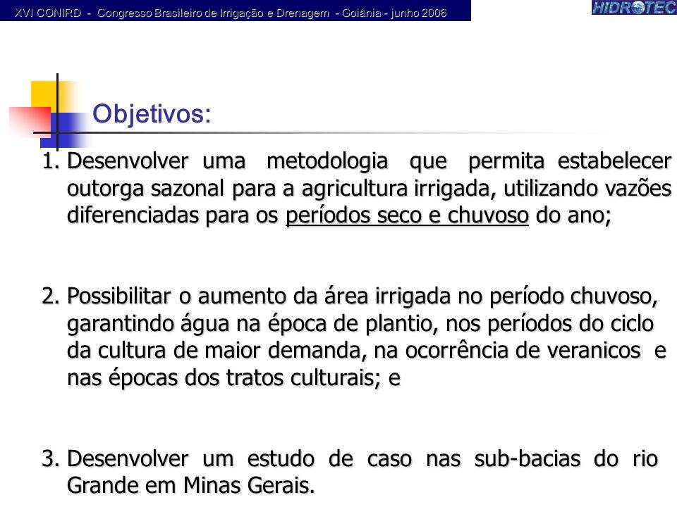 Produtor de Água XVI CONIRD - Congresso Brasileiro de Irrigação e Drenagem - Goiânia - junho 2006.