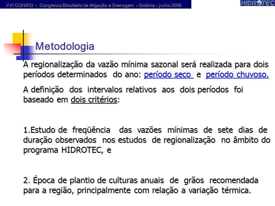 XVI CONIRD - Congresso Brasileiro de Irrigação e Drenagem - Goiânia - junho 2006