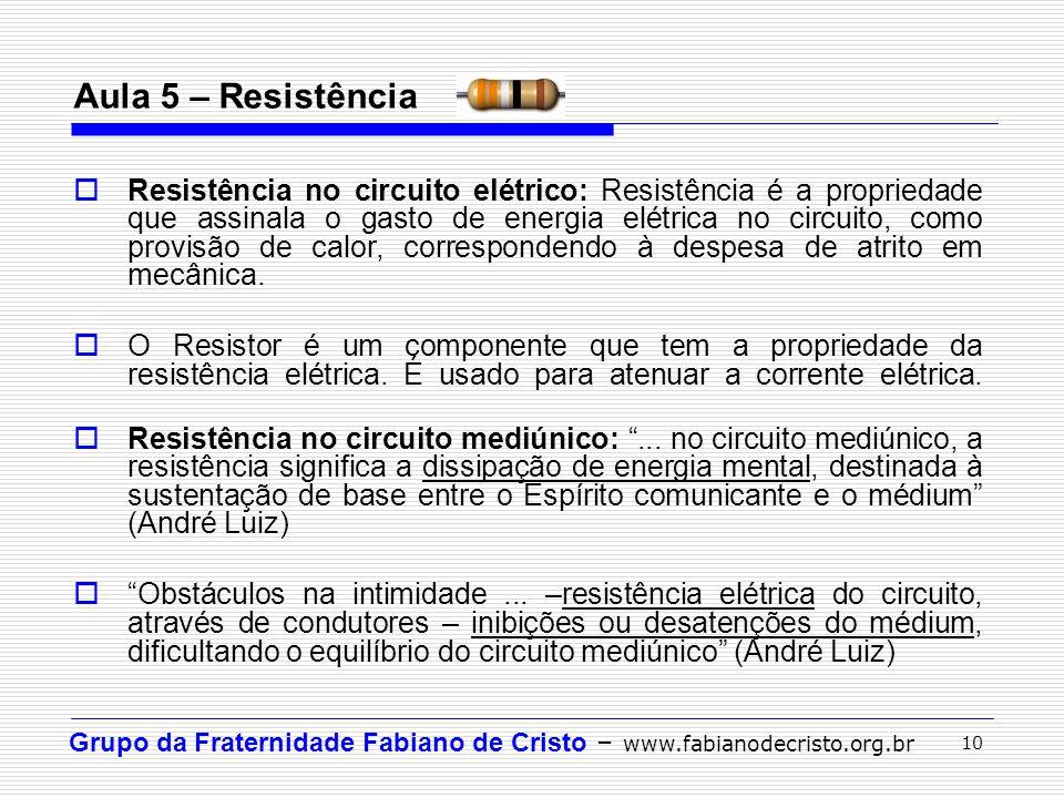 Aula 5 – Resistência