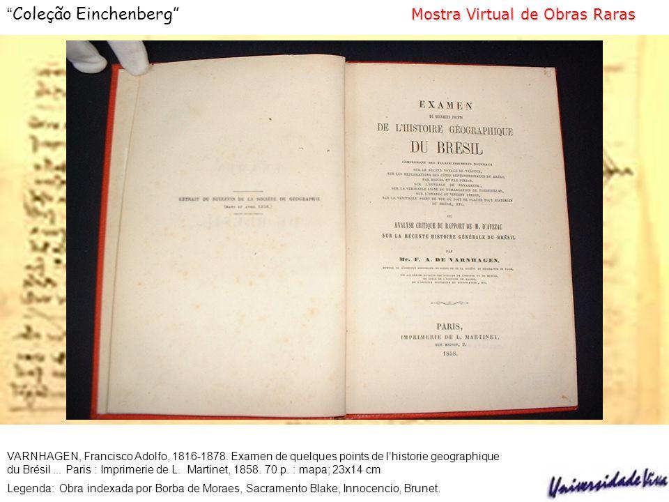 VARNHAGEN, Francisco Adolfo, 1816-1878