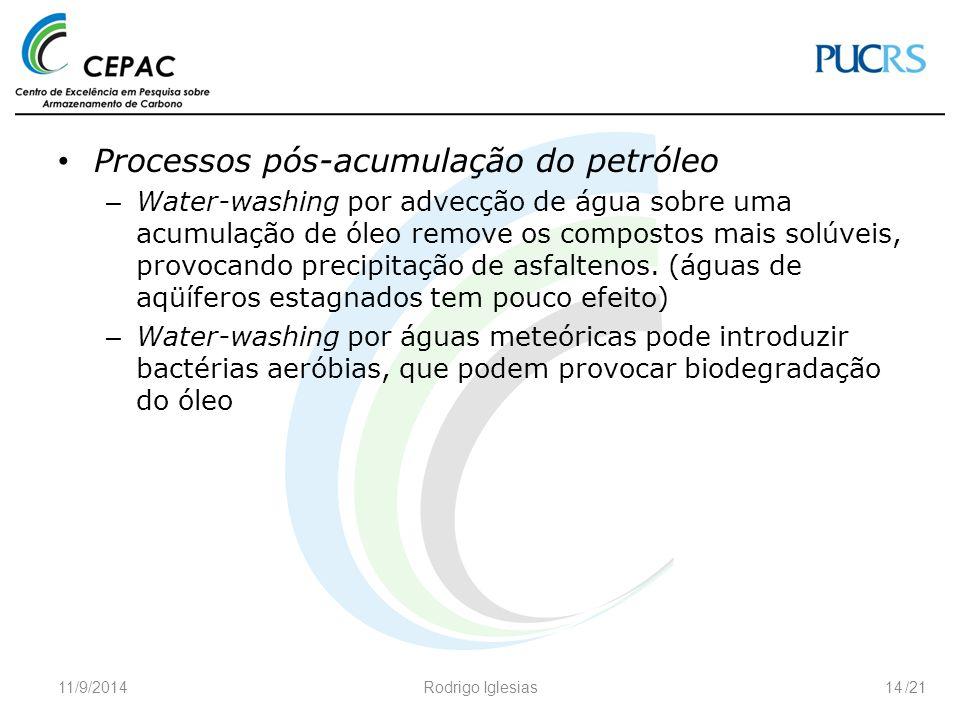Processos pós-acumulação do petróleo