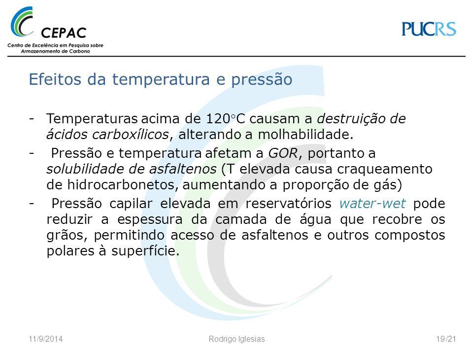 Efeitos da temperatura e pressão