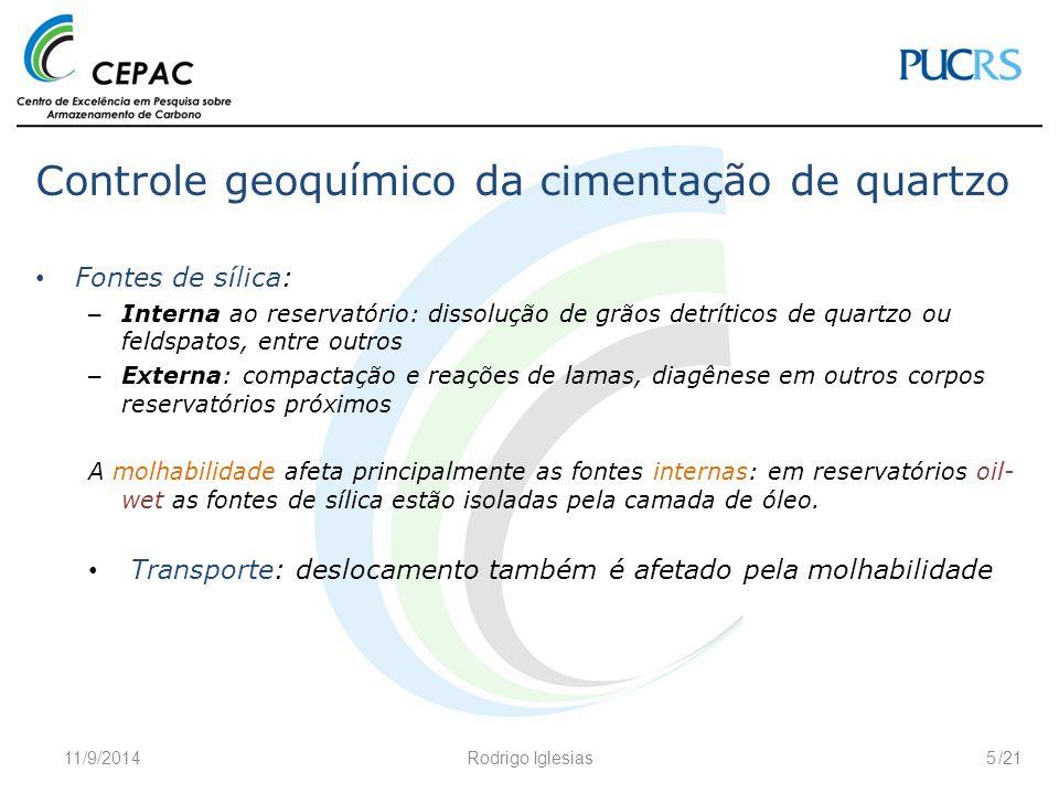 Controle geoquímico da cimentação de quartzo