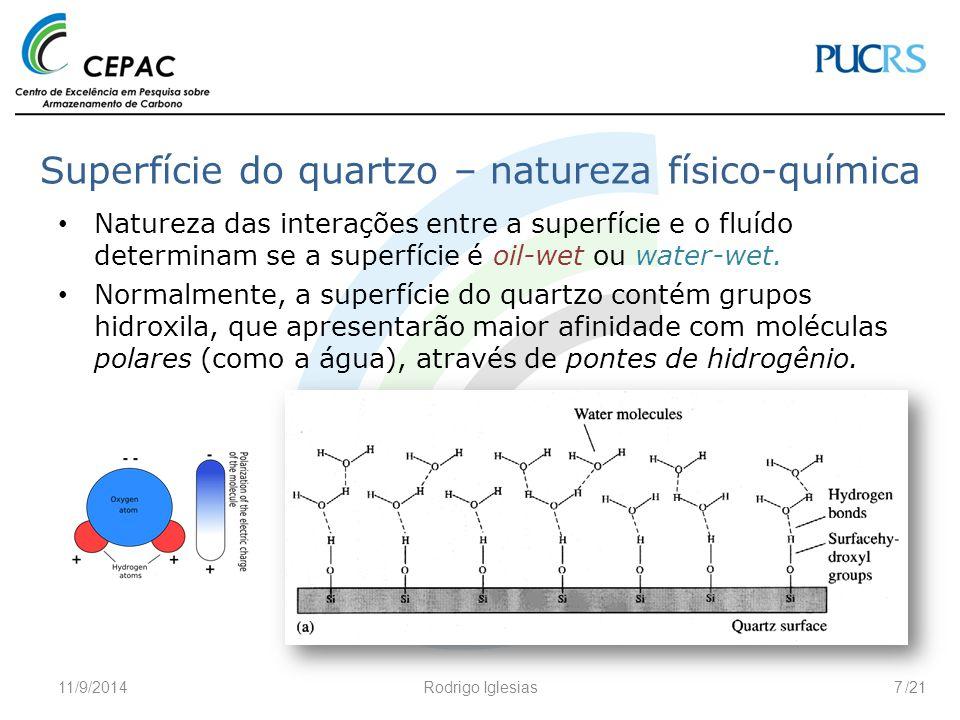 Superfície do quartzo – natureza físico-química