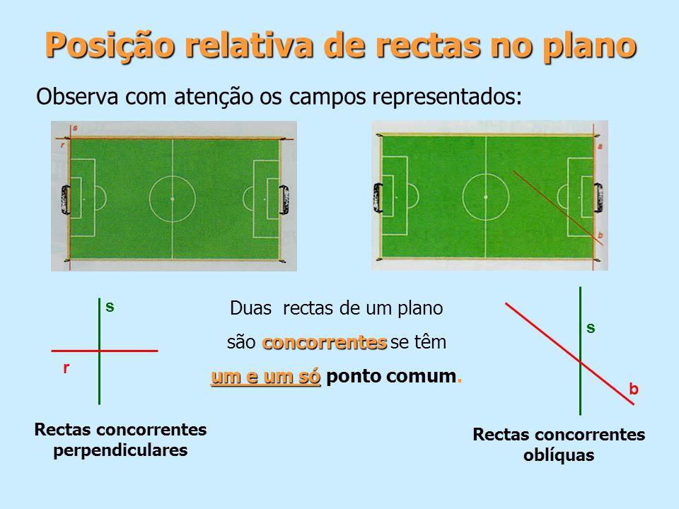 Posição relativa de rectas no plano