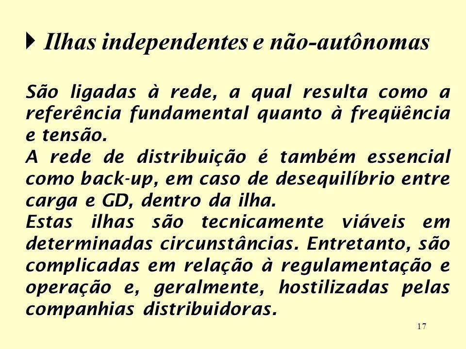 Ilhas independentes e não-autônomas
