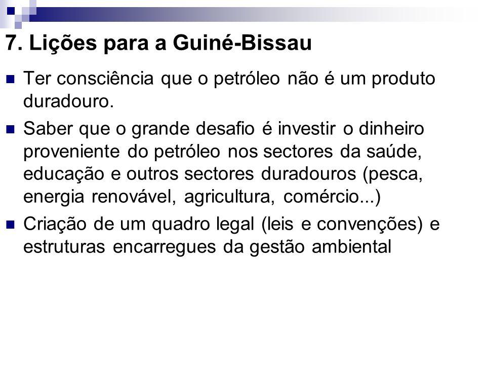 7. Lições para a Guiné-Bissau