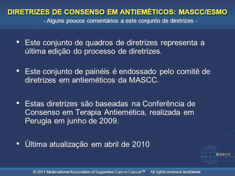 DIRETRIZES DE CONSENSO EM ANTIEMÉTICOS: MASCC/ESMO