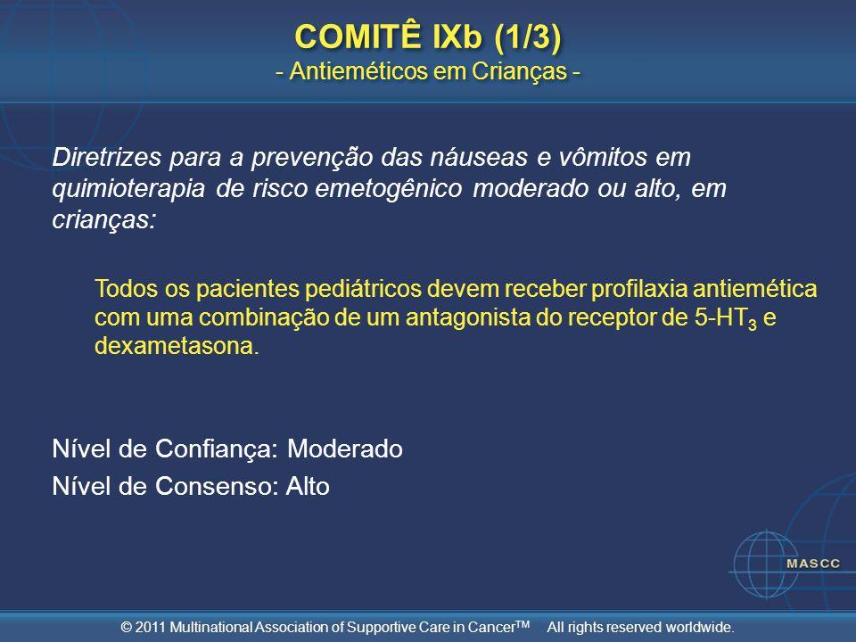 COMITÊ IXb (1/3) - Antieméticos em Crianças -