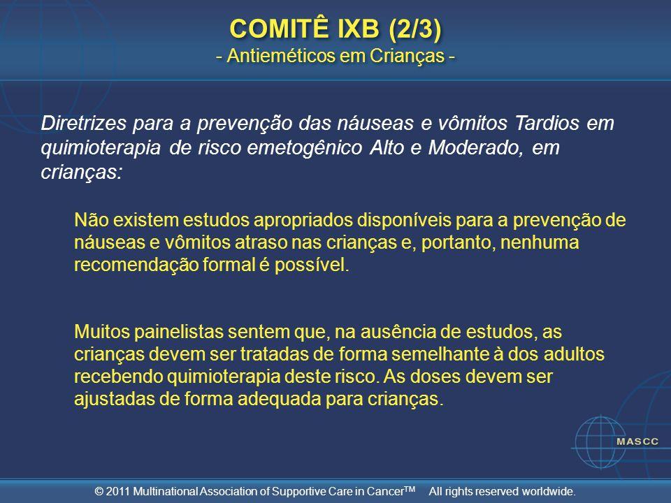 COMITÊ IXB (2/3) - Antieméticos em Crianças -