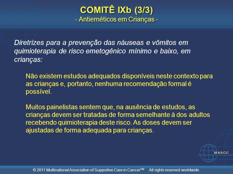 COMITÊ IXb (3/3) - Antieméticos em Crianças -