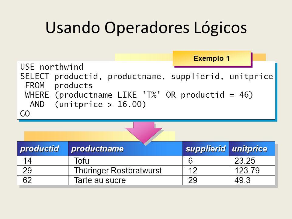 Usando Operadores Lógicos