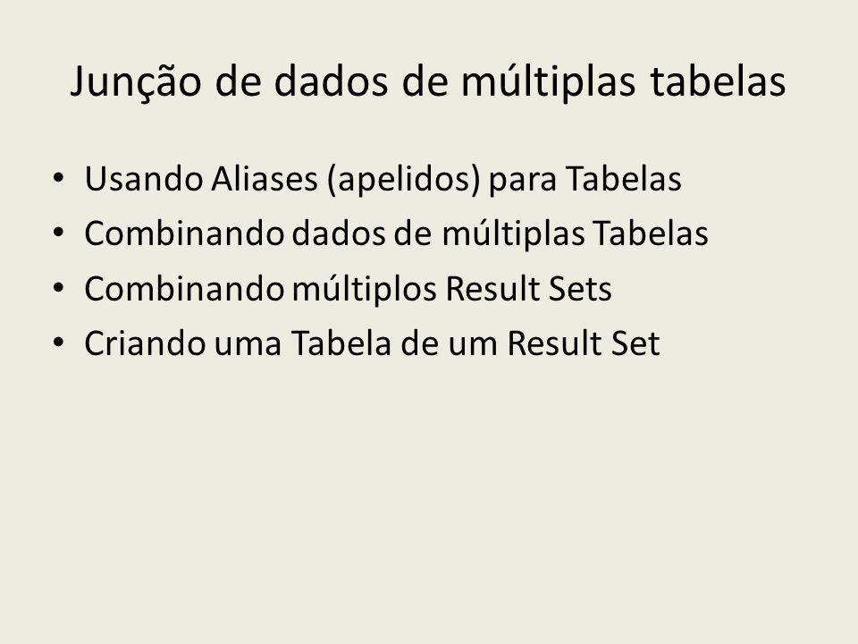Junção de dados de múltiplas tabelas