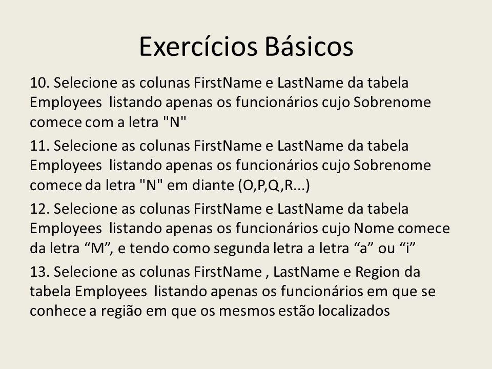 Exercícios Básicos