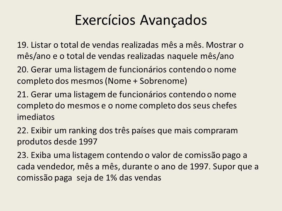 Exercícios Avançados