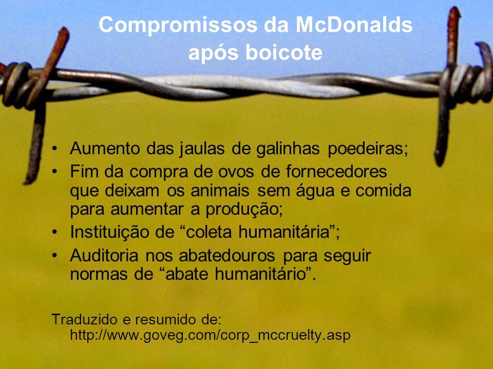 Compromissos da McDonalds