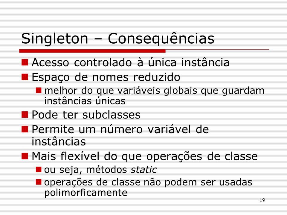 Singleton – Consequências