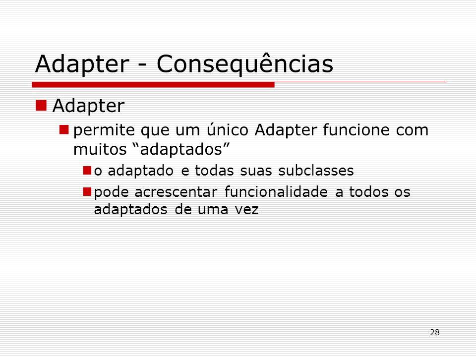 Adapter - Consequências