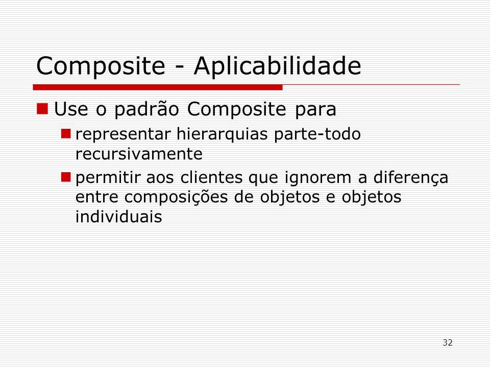 Composite - Aplicabilidade