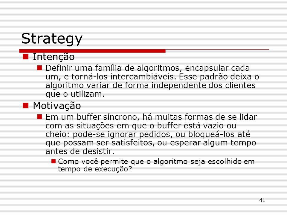 Strategy Intenção Motivação