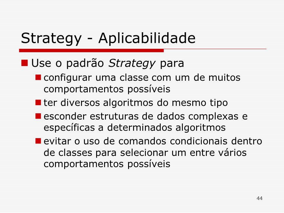 Strategy - Aplicabilidade