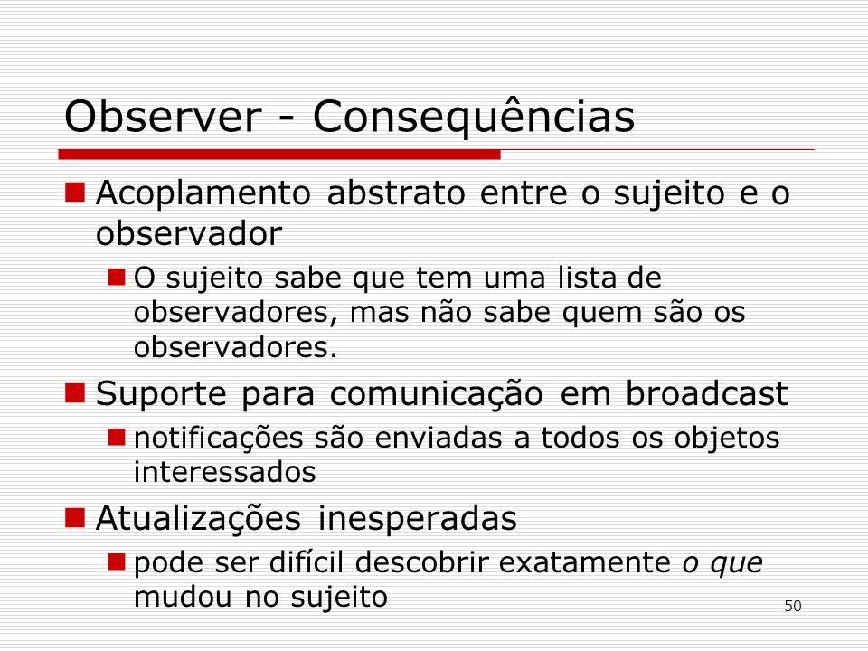 Observer - Consequências
