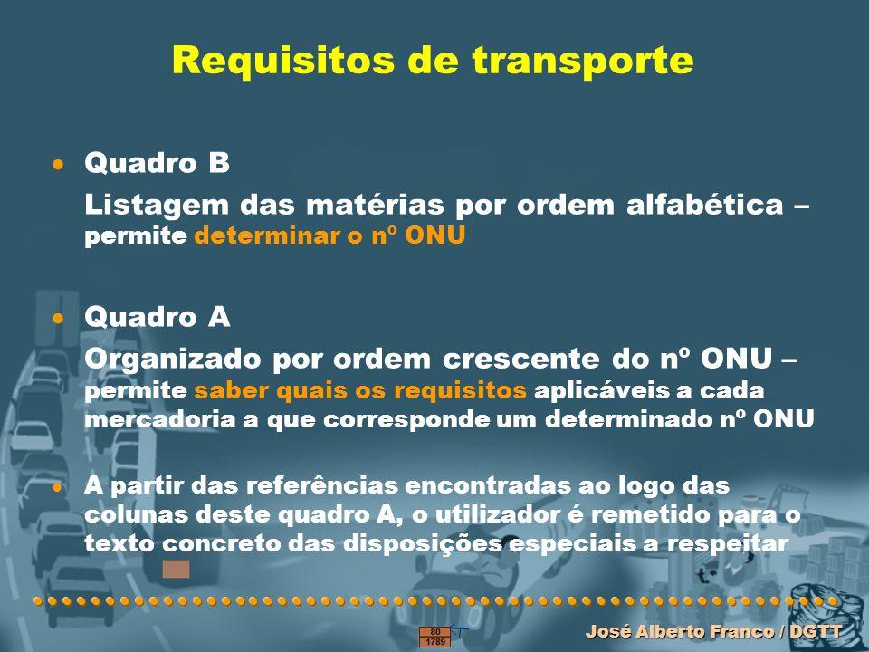 Requisitos de transporte