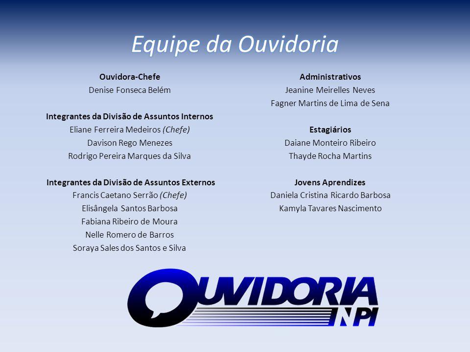 Equipe da Ouvidoria Ouvidora-Chefe Denise Fonseca Belém