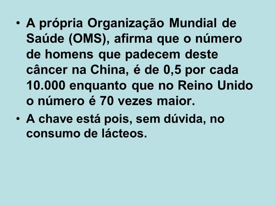 A própria Organização Mundial de Saúde (OMS), afirma que o número de homens que padecem deste câncer na China, é de 0,5 por cada 10.000 enquanto que no Reino Unido o número é 70 vezes maior.